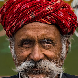 rajasthani by Prabhat Kumar - People Portraits of Men ( rajasthan, india, moustache, people, portrait )