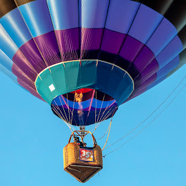 Hot Air Balloon by Debbie Quick - Transportation Other ( sky, wicker, flight, balloon, debbie quick, adirondacks, festival, debs creative images, new york, transportation, bucket, hot air balloon, queensbury, flying, flame, event )