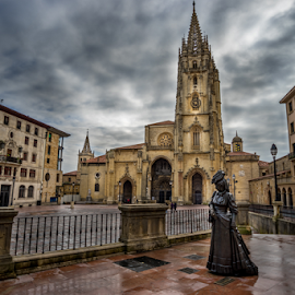 La Regenta by Jorge Fernandez - Buildings & Architecture Statues & Monuments ( oviedo, españa, asturias, la regenta, cathedral, spain, catedral )