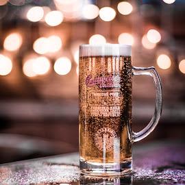 Budvar Bokeh by Adam Lang - Food & Drink Alcohol & Drinks ( lights, budvar, beer, lager, depth of field, bokeh )