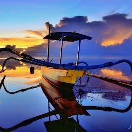 Beautiful karang beach by Wahid Hasyim - Landscapes Sunsets & Sunrises ( bali, sunset, beach, sunrise, landscape )