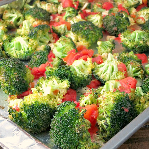 Oven Roasted Broccoli with Tomatoes