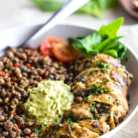 Garlicky Green Crock-Pot Chicken and Lentils {Gluten Free}