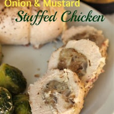 Onion and Mustard Stuffed Chicken Breasts