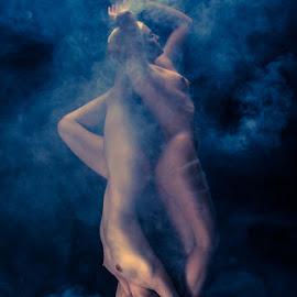 Clouds Diving by Marcin Śmieszek - Nudes & Boudoir Artistic Nude ( body, girls, girl, nude, female, fog, naked, couple, smoke,  )