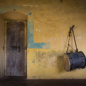 Shri Shantadurga Temple, Dhargalim, Goa by Kevin Standage - Artistic Objects Musical Instruments ( canon, goa, shri shantadurga temple, drum, india, dhargalim )