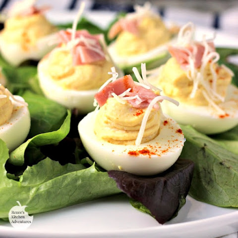 Ham and Swiss Deviled Eggs