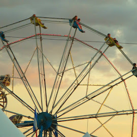 by Victoria Shaudys - Artistic Objects Other Objects ( amusement, sinset, people, ferris wheel,  )