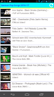 German Pop Songs 2016 - screenshot