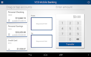 Screenshot of VCB Mobile Banking