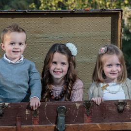 Jacks in a box by David Bair - Babies & Children Child Portraits ( trunk, family, happy, children, smiling, portrait,  )