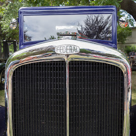Yesteryear by Ron Mullins - Transportation Automobiles ( grill, truck, chrome, car show, tank truck, antique, radiator )