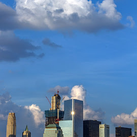 by Judy Florio - City,  Street & Park  Skylines ( clouds, skyline, sky, manhattan, new york, cityscape )