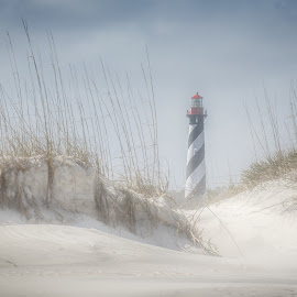 St. Augustine Beach by David Long - Landscapes Beaches ( lighthouse, beach, st. augustine )