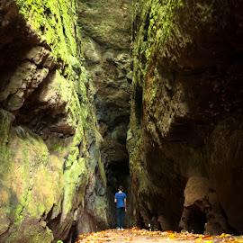 Walking among the rocks by Virgílio Nóbrega - Landscapes Caves & Formations ( madeira island, portela, trail, ribeiro frio, trails, rocks, tunel )