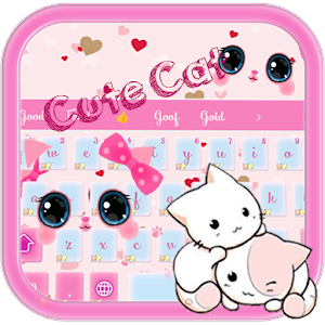 Download Pink kawaii kitten for PC