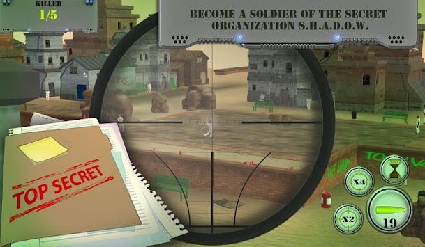 Sniper games. City of shadows: Gun Shooting Games apk screenshot