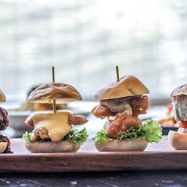 Mini Burgers  by Shadat Hossain - Food & Drink Meats & Cheeses ( burger, bun, food, meat, burgers, cheese, fast food )