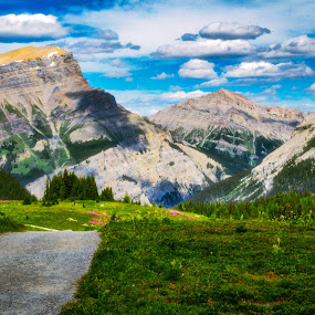 Rocky Mountain Trail by Andrew Christmann - Landscapes Mountains & Hills ( mountain, rocky mountains, jasper, landscape, banff )