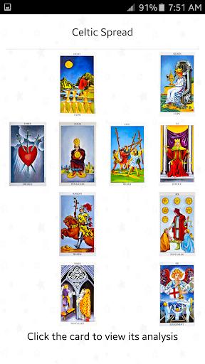 Tarot Card Spreads Reading - screenshot