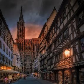 Cathédrale Notre-Dame de Strasbourg by Ole Steffensen - Buildings & Architecture Places of Worship ( shops, alsace, france, cathedral, cathédrale notre-dame, restaurants, strasbourg,  )