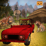 VR 4x4 Driving Wild Animal Safari Park Tour 3D Icon