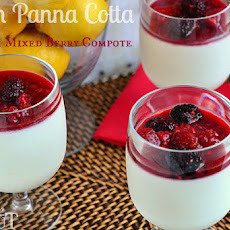 Vanilla Bean Panna Cotta with Mixed Berry Compote Recipe   Yummly