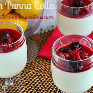 Lemon Panna Cotta with Mixed Berry Compote