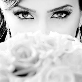 by Jay Goldman - Wedding Bride ( black and white )