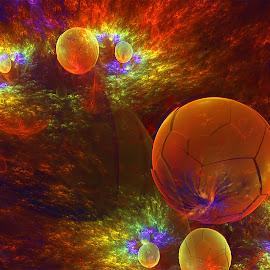 Firestorm by Cassy 67 - Illustration Abstract & Patterns ( orange, bubble, jwf, digital art, fractal art, bubbles, fractal, digital, fractals )