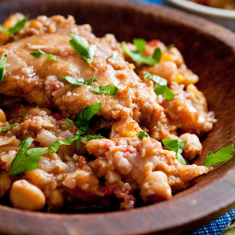 Chickpea Tagine With Chicken and Apricots