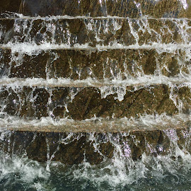 Cascading Water by Lorna Littrell - Nature Up Close Water ( water, cascading water, nature up close )
