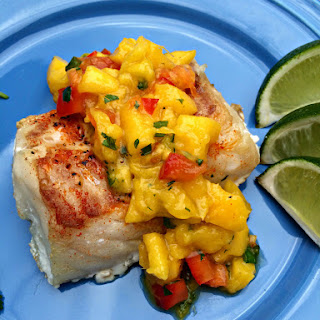 Baked Cod with Mango Salsa