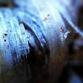 Ice crystals by Chris Winner - Abstract Macro ( #ice #crystals #dirt )