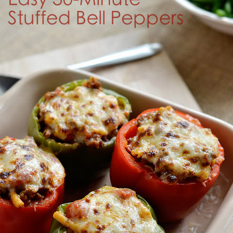 30 Minute Stuffed Bell Peppers
