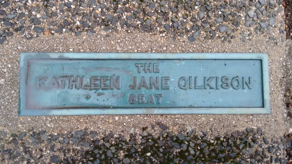 This site contains this seat and plaque, the George Simpson seat and plaque, and a direction indicator on a plinth with the 1954 Royal Visit Direction Indicator plaque.Transcription:The Kathleen Jane ...