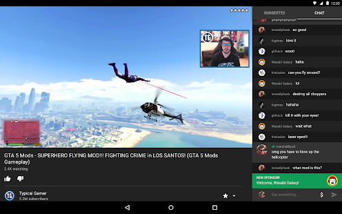 Free YouTube Gaming APK for Windows 8