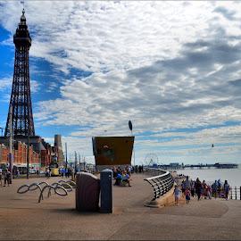 Blackpool  by Nic Scott - City,  Street & Park  Street Scenes ( sea front, blackpool )