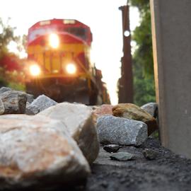 The Main Line.. by Alan Dougherty - Transportation Trains ( selective, railroad, summer, nikon, rocks )