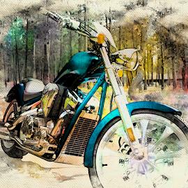 The Fury by Anthony Balzarini - Digital Art Things ( #motorcycle, #fury, #honda, #motorcycleporn, #digitalart, #bikerlife )