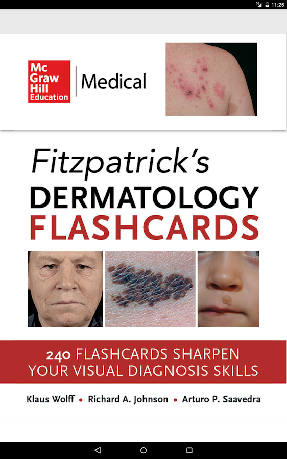 Fitzpatrick's Derm Flash Cards Screenshot 8