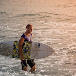Game Over by Sihina Lahiru - Sports & Fitness Surfing ( sky, surf, surfer, sunrise, shadow, surfing, photo, guy, sun, people, sea, summer, spring, sunset, men, photographer, photography )