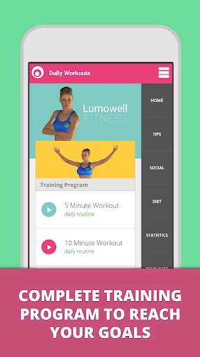 Daily Workouts Lumowell - screenshot