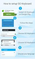 Screenshot of GO Keyboard BlackLeather theme