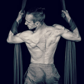 Silk back by Danny Charge - Sports & Fitness Other Sports ( love, body, silk, muscles, male, art, muscle, sport, aerial, dance, dancer, circus,  )