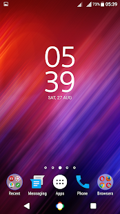 Blue Pink Abstract XZ Theme - screenshot