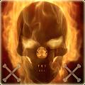 Flaming Skull Theme Skull Fire