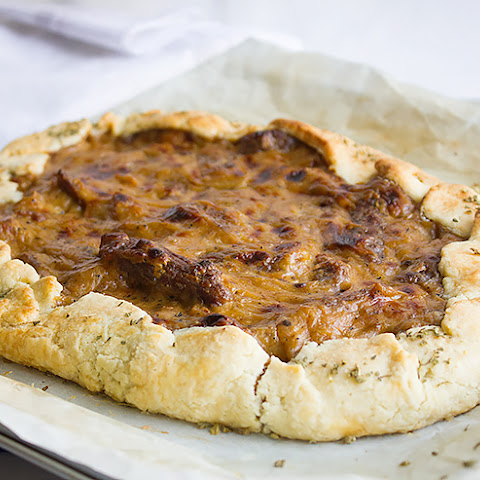 Sausage Caramelized Onion Galette