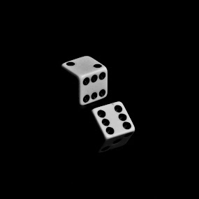 life is game by Samet Işık - Artistic Objects Other Objects ( dice, zar, altı, beyaz, siyah )
