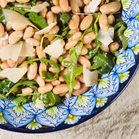 White Bean Salad with Arugula and Shaved Grana Padano